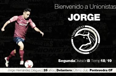 Jorge Hernández es nuevo jugador de Unionistas. Foto: @UnionistasCF