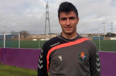 Jorge Juliá en un entrenamiento con el filial blanquivioleta.   Foto: Real Valladolid.