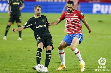 Jorge Molina, el más veterano en debutar con el Granada CF en Primera