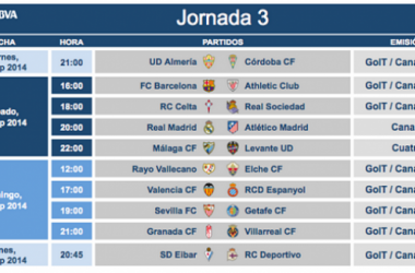 Málaga-Levante, sábado 13 de septiembre a las 22:00 horas