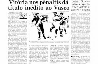 Copinha VAVEL: o último título do Vasco na história da Copa São Paulo