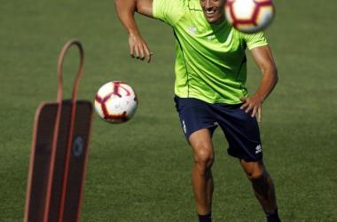 José Antonio Martínez entrena con el grupo