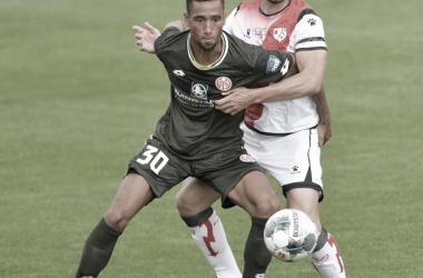 José León en un partido de pretemporada | Fuente: Rayo Vallecano S.A.D