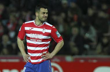 Joselu se marcha del Granada CF tras militar en él una temporada | Foto: Antonio L. Juárez
