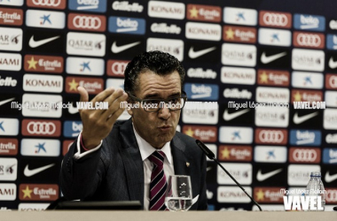 Josep Vives en sala de prensa. Foto: Miguel López Mallach, VAVEL
