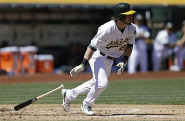 Josh Reddick returned to the A's lineup on Sunday in hopes of keeping the A's offense on pace. (AP Photo, Ben Margot)