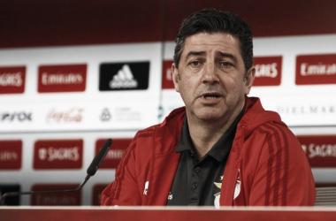 Rui Vitória mostrou-se confiante para o jogo, mas mostra respeito pelo adversário. // Fonte: www.slbenfica.pt