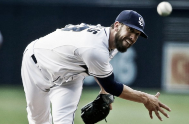 James Shields in action with the San Diego Padres. (Lenny Ignelzi/AP)