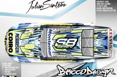 Chevrolet con el que competira Julian Santero en la Temporada 2016. Foto: Bricco Design