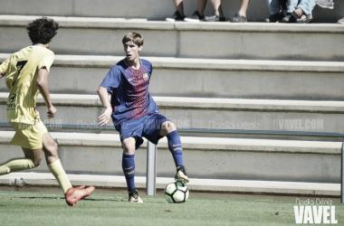 Juan Miranda con el FCB Juvenil A | Foto: Noelia Déniz - VAVEL
