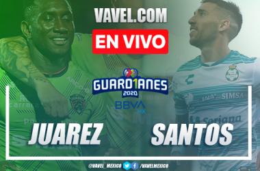 Goles y resumen: FC Juárez 1-1 Santos Laguna en Guard1anes 2020