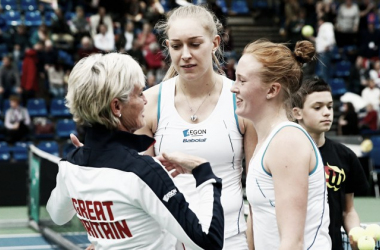 Judy Murray with Jocelyn Rae and Anna Smith (Source: www:Theguardian.com)