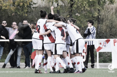 Jugadoras celebrando un gol. Fotografía: La LIga Iberdrola