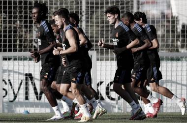 Jugadores del Real Madrid entrenando. Fuente: Real Madrid.