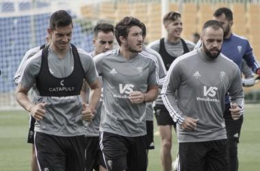 Los jugadores del Cádiz entrenan pensando en el Sporting | Cádiz CF