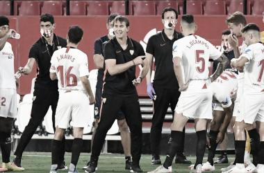 """Lopetegui cobra Sevilla após empate contra Valladolid: """"Capazes de que merecimentos se transformem em pontos"""""""