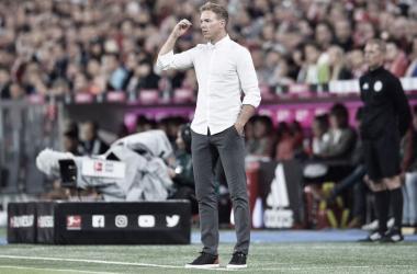 Treinador Julian Nagelsmann no jogo contra o Bayern (Fonte: Divulgação/Hoffenheim)