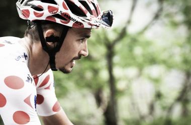 Alaphilippe ha vencido en Bagneres de Luchon tras destacarse en la bajada del Portillon. Foto: Tour de France