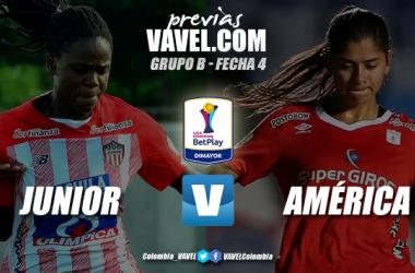 Previa Junior de Barranquilla vs. América de Cali: por mantenerse en los puestos de vanguardia