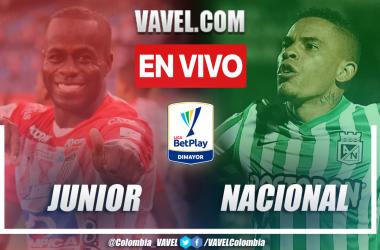 Resumen Junior vs. Atlético Nacional 1-3 en la fecha 10 por Liga BetPlay 2021-II