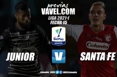 Previa Junior de Barranquilla vs Independiente Santa Fe: sin margen de error