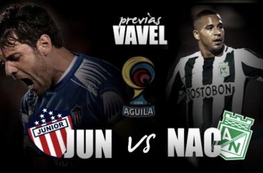 Atlético Junior y Atlético Nacional, los mejores equipos colombianos en la actualidad se ven las caras. | Fotomontaje: VAVEL Colombia