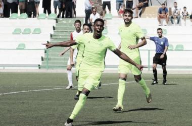 Junior celebra su gol ante el Atlético Antoniano | Foto: Real Betis