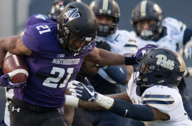 Justin Jackson ran for 224 yards in Northwestern's Pinstripe Bowl win (image source: USA Today via Vinnie Duber-csnchicago)