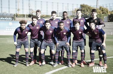 Foto de archivo del juvenil del FC Barcelona antes del comienzo de un partido. FOTO: Noelia Déniz