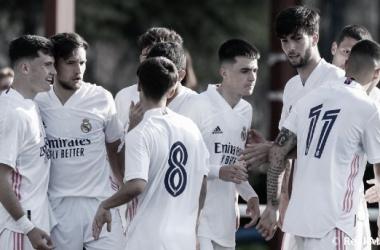 El filial merengue a disputar los cuartos de final contra el Atleti juvenil. // Foto: Real Madrid