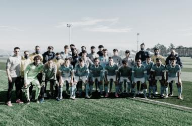 La plantilla del Juvenil A posa antes de un partido | Imagen: RC Celta