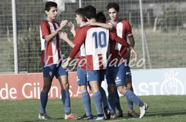 El Juvenil A celebra uno sus goles de este fin de semana   Imagen: Diego Blanco - VAVEL