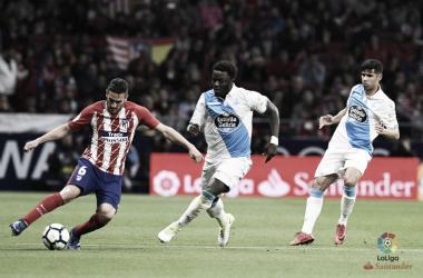 Koke in azione contro il Deportivo. Fonte: LaLiga.es