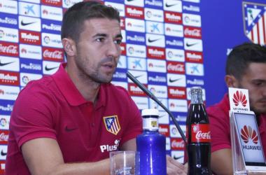 Gabi, en rueda de prensa | Foto: Atlético de Madrid