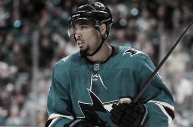 Evander Kane con los Sharks | Foto: NHL.com