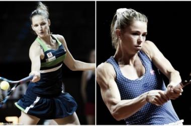 Karolina Pliskova and Camila Giorgi would face off in the first round of the J&T Banka Prague Open | Photos: (Pliskova) Jimmie48 Tennis Photography (Giorgi) Dennis Grombkowski/Bongarts