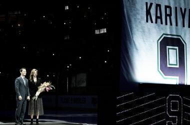 Kariya tuvo su número retirado la semana pasada. NHL.com.