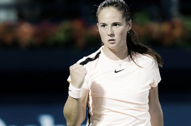 Daria Kasatkina will be pleased with her performance today, and her reward is her third-round meeting with either Stephens or Azarenka   Photo: Jimmie48 Tennis Photography