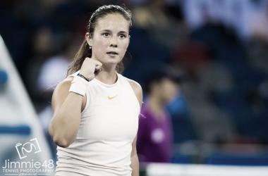 WTA Wuhan: Daria Kasatkina survives huge scare against rising star Wang Xiyu