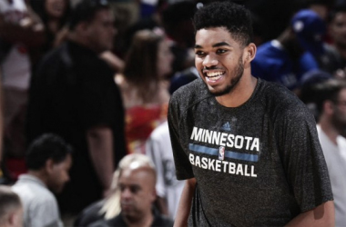 Minnesota Timberwolves star Karl-Anthony Towns will lead Team USA in the Rising Stars Challenge. | USA-TODAY Sports