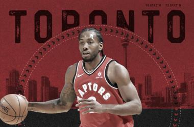 LA nueva estrella de los Raptors tendrá que buscar zapatillas nuevas | Foto:NBA.com