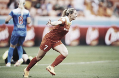 Kealia Ohai led her team with a goal and assist in today's 2-0 win. | Source: Houston Dynamo
