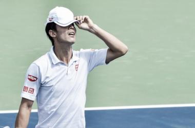 Kei Nishikori se lamenta durante un partido en el Masters 1000 de Montreal. Foto: zimbio.com