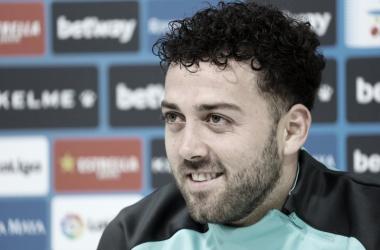 Keidi en la rueda de prensa. Fotografía: RCD Espanyol S.A