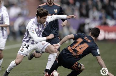 Keko durante el partido Valladolid - Valencia en el centro de la investigación | Foto: LaLiga