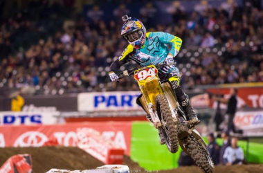 Ken Roczen at Anaheim 3 last Saturday night. Photo by: Cudby Photo