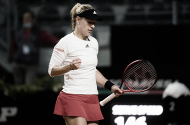 Angelique Kerber venceu Alizé Cornet no WTA 1000 de Roma 2021 (WTA / Divulgação)