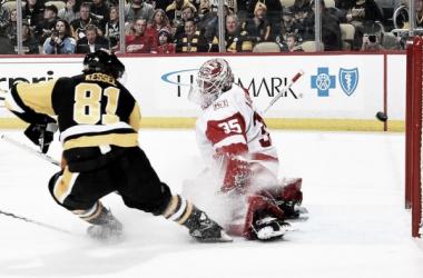 Kessel durante el último partido ante Red Wings | Foto: NHL.com