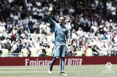 Keylor Navas se despide del Santiago Bernabéu en su último partido / Foto: LaLiga