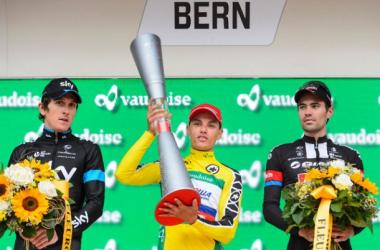 Pódium final de la Vuelta Suiza | Imagen: Keystone